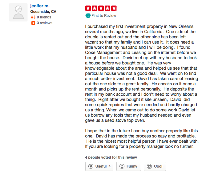 coxe yelp.com review